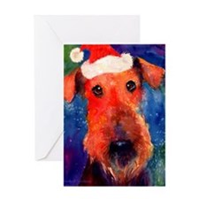 Unique Airedales Greeting Card
