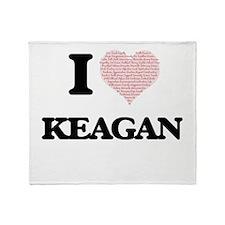 I Love Keagan (Heart Made from Love Throw Blanket