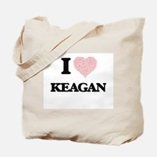 I Love Keagan (Heart Made from Love words Tote Bag