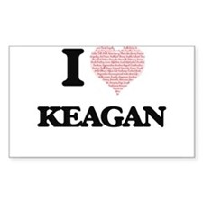 I Love Keagan (Heart Made from Love words) Decal