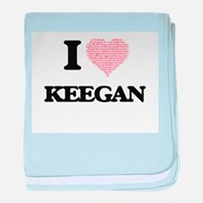 I Love Keegan (Heart Made from Love w baby blanket