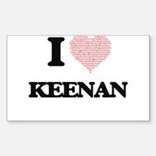 I Love Keenan (Heart Made from Love words) Decal