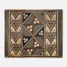 Tribal Masi Tapa Cloth Print Throw Blanket
