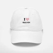 I Love Kelvin (Heart Made from Love words) Baseball Baseball Cap