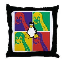 Warhol Tux Throw Pillow