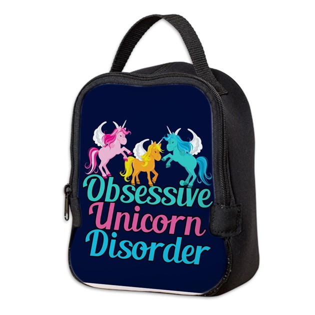 Cool Unicorn Neoprene Lunch Bag By Giftsofgrace