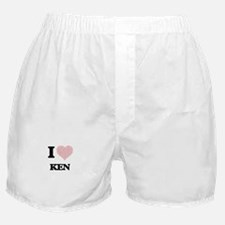 I Love Ken (Heart Made from Love word Boxer Shorts