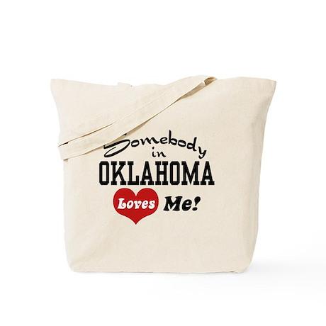 Somebody in Oklahoma Loves Me Tote Bag