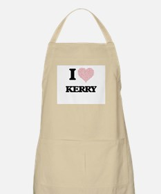 I Love Kerry (Heart Made from Love words) Apron
