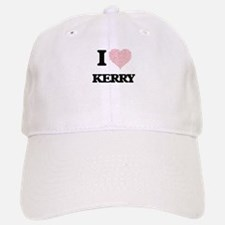 I Love Kerry (Heart Made from Love words) Baseball Baseball Cap