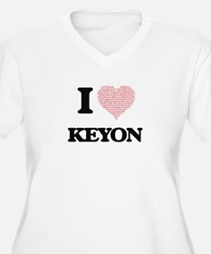 I Love Keyon (Heart Made from Lo Plus Size T-Shirt