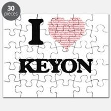 I Love Keyon (Heart Made from Love words) Puzzle