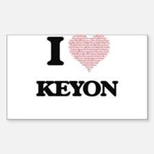 I Love Keyon (Heart Made from Love words) Decal