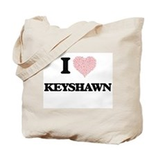 I Love Keyshawn (Heart Made from Love wor Tote Bag