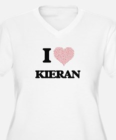 I Love Kieran (Heart Made from L Plus Size T-Shirt