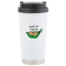 Cute Aunt of twins Travel Mug