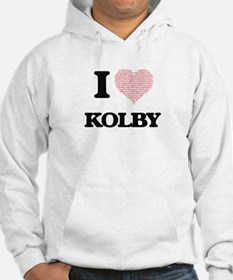 I Love Kolby (Heart Made from Lo Hoodie