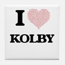 I Love Kolby (Heart Made from Love wo Tile Coaster
