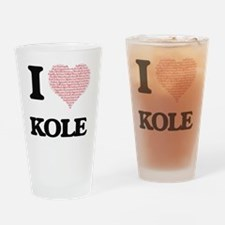 Cute Kole Drinking Glass