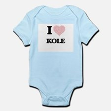 I Love Kole (Heart Made from Love words) Body Suit