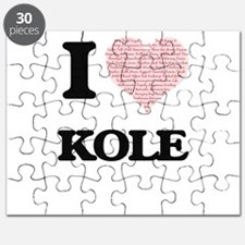 I Love Kole (Heart Made from Love words) Puzzle