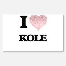 I Love Kole (Heart Made from Love words) Decal