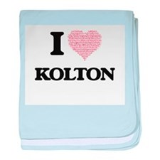 I Love Kolton (Heart Made from Love w baby blanket