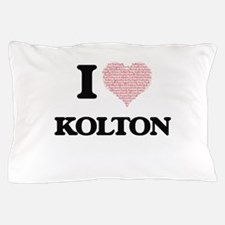 I Love Kolton (Heart Made from Love wo Pillow Case