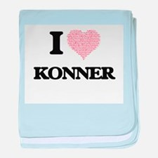 I Love Konner (Heart Made from Love w baby blanket