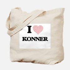 I Love Konner (Heart Made from Love words Tote Bag
