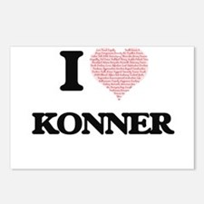 I Love Konner (Heart Made Postcards (Package of 8)
