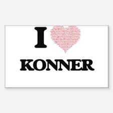 I Love Konner (Heart Made from Love words) Decal