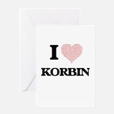 I Love Korbin (Heart Made from Love Greeting Cards