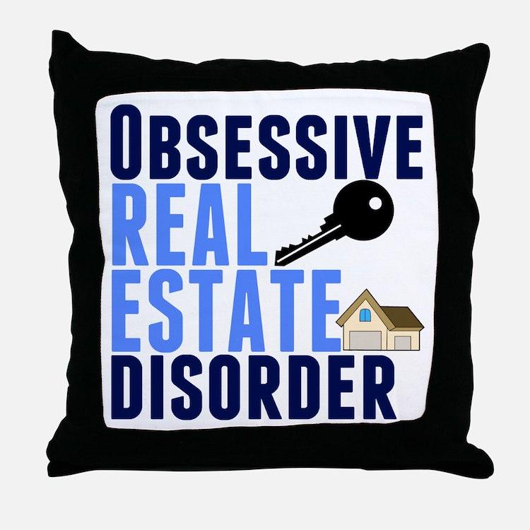 Funny Real Estate Throw Pillow