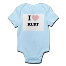 I Love Kurt (Heart Made from Love words) Body Suit