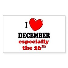 December 26th Rectangle Decal