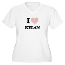 I Love Kylan (Heart Made from Lo Plus Size T-Shirt