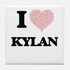 I Love Kylan (Heart Made from Love wo Tile Coaster