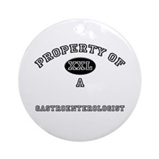 Property of a Gastroenterologist Ornament (Round)