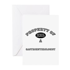 Property of a Gastroenterologist Greeting Cards (P