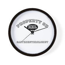 Property of a Gastroenterologist Wall Clock