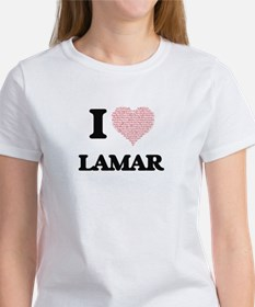 I Love Lamar (Heart Made from Love words) T-Shirt