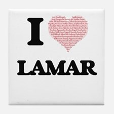 I Love Lamar (Heart Made from Love wo Tile Coaster