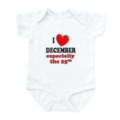 December 25th Infant Bodysuit