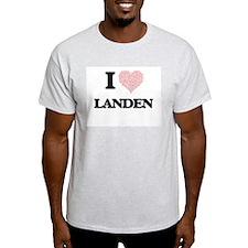 I Love Landen (Heart Made from Love words) T-Shirt
