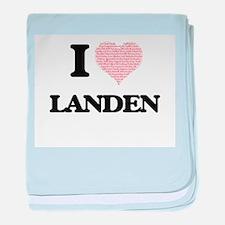 I Love Landen (Heart Made from Love w baby blanket