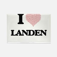 I Love Landen (Heart Made from Love words) Magnets