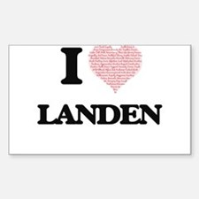 I Love Landen (Heart Made from Love words) Decal