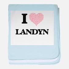 I Love Landyn (Heart Made from Love w baby blanket
