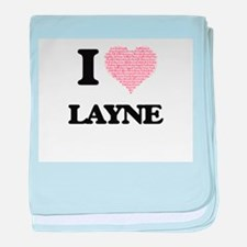 I Love Layne (Heart Made from Love wo baby blanket